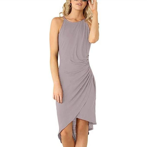 e2c0d8b0b5 🆕Grey lined keyhole dress